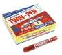 ปากกาเคมี 2 หัว สีแดง ตราม้า