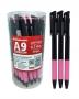 ปากกาแบบกดด้ามหลากสี 0.7สีแดง M&G
