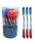 ปากกาหมึกน้ำมัน สีน้ำเงิน/แดง  YOYA
